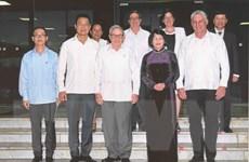 Phó Chủ tịch nước Đặng Thị Ngọc Thịnh hội kiến các nhà lãnh đạo Cuba