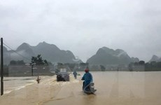 Tỉnh Cao Bằng ngập trong biển nước, 2 người thiệt mạng