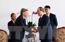Bí thư Thành ủy TP.HCM tiếp Bí thư toàn quốc Đảng Cộng sản Pháp