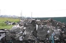 Nan giải tình trạng đổ trộm rác thải công nghiệp tại Bắc Ninh