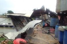 Giông lốc làm gần 100 căn nhà ở An Giang bị sập và tốc mái
