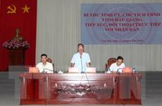 Lãnh đạo Đảng, chính quyền Hậu Giang đối thoại với người dân
