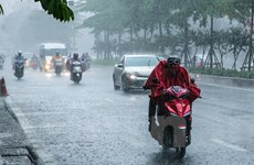 Ngày 23/8, Bắc Bộ và các tỉnh Thanh Hóa và Nghệ An tiếp tục mưa to