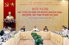 Tiểu ban Kinh tế-Xã hội tổ chức xin ý kiến các vị nguyên lãnh đạo