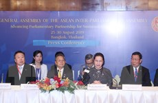 Hai Chủ tịch Quốc hội Việt Nam, Thái Lan họp báo bế mạc AIPA 40