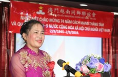 Người Việt tại Macau trang trọng kỷ niệm 74 năm Quốc khánh