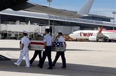 Lễ bàn giao hài cốt quân nhân Hoa Kỳ mất tích trong chiến tranh