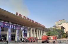 Xuất hiện cột khói lớn tại Cung Văn hóa Lao động hữu nghị Việt Xô
