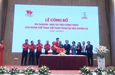 Đoàn thể thao Việt Nam tham dự SEA Games 30 có nhà tài trợ chính thức