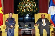 Chủ tịch Quốc hội hội kiến với Tổng Bí thư, Chủ tịch nước Lào