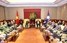 Tổng Bí thư, Chủ tịch nước Lào tiếp Đoàn cựu Quân tình nguyện Việt Nam