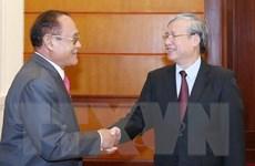 Thường trực Ban Bí thư tiếp Đoàn đại biểu cấp cao Campuchia