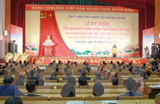 Kỷ niệm 110 năm ngày sinh nhà lãnh đạo tiền bối Hoàng Văn Thụ