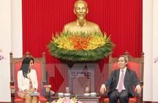 Trưởng ban Kinh tế Trung ương tiếp Đoàn cán bộ Quỹ Tiền tệ Quốc tế
