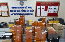 Hải quan sân bay Tân Sơn Nhất tạm giữ lô hàng xì gà số lượng lớn