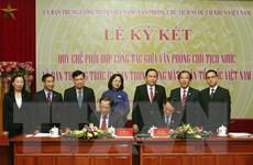 Văn phòng Chủ tịch nước và Ban Thường trực MTTQ phối hợp công tác