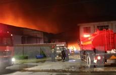 Hình ảnh vụ cháy dữ dội tại khu công nghiệp Biên Hòa 2