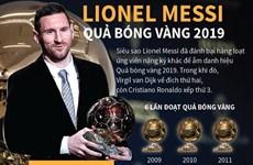 [Infographics] Lionel Messi lần thứ sáu đoạt Quả bóng Vàng