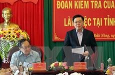 Đoàn công tác Bộ Chính trị làm việc với Ban Thường vụ Tỉnh ủy Đắk Nông