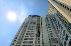 TP.HCM: Cháy tại căn hộ tầng 12 chung cư Hoàng An Gold House