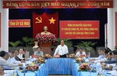 Thủ tướng: Chính quyền, doanh nghiệp Cà Mau cần có tư duy hội nhập