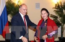 Chủ tịch Quốc hội gặp lãnh đạo Đảng Cộng sản Nga và các hội hữu nghị