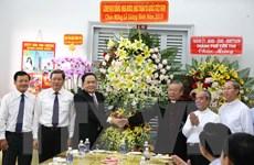 Chủ tịch Mặt trận Tổ quốc Việt Nam chúc mừng Giáng sinh tại Cần Thơ
