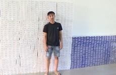 Bắt quả tang đối tượng vận chuyển lậu 16.000 bao thuốc lá điếu ngoại