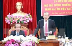 Phó Thủ tướng Thường trực Chính phủ làm việc với tỉnh Lâm Đồng