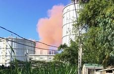 Khói bụi màu hồng bất thường tại Nhà máy Thép Hòa Phát Dung Quất