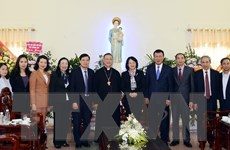 Phó Chủ tịch nước chúc mừng Giáng sinh tại Tòa Giáo phận Bùi Chu