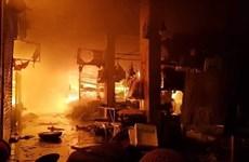 Thái Bình điều tra nguyên nhân vụ cháy lớn chợ Đề Thám
