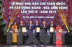 Danh sách các tác phẩm, tác giả đoạt Giải Búa liềm vàng 2019
