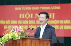 Ban Tuyên giáo Trung ương triển khai nhiệm vụ năm 2020