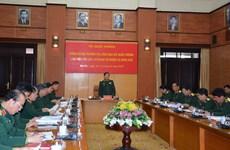 Bộ trưởng Bộ Quốc phòng làm việc với Tổng cục Chính trị