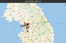 Hàn Quốc sử dụng bản đồ số để theo dịch bệnh do virus corona mới