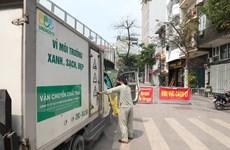 Rác thải khu cách ly ở Trúc Bạch xử lý theo quy trình rác thải y tế