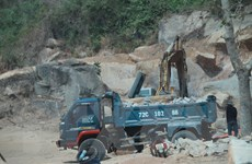 Bà Rịa-Vũng Tàu: Khai thác khoáng sản trái phép tại mỏ đá Tóc Tiên