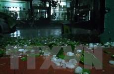 Mưa đá gây nhiều thiệt hại ở thành phố Lai Châu và huyện Tam Đường