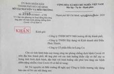 Sở Tài nguyên-Môi trường TPHCM thu hồi văn bản gây hoang mang dư luận