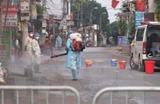 Dịch COVID-19: Hà Nội hoàn thành phun khử khuẩn thôn Hạ Lôi