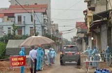 Người dân đang cách ly tại thôn Đông Cứu đồng lòng chống dịch