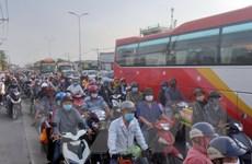 Cửa ngõ TP.Hồ Chí Minh đông nhưng không tắc kéo dài sau nghỉ lễ