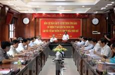 Bí thư Trung ương Đảng Trần Cẩm Tú làm việc với Tỉnh ủy Thừa Thiên-Huế