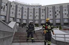 Cháy tại một bệnh viện điều trị bệnh nhân COVID-19 tại St.Petersburg