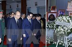 Thủ tướng dự Quốc tang nguyên Thủ tướng Chính phủ Lào