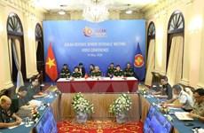 Hình ảnh Hội nghị trực tuyến Quan chức Quốc phòng cấp cao ASEAN