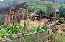 Mưa to và dông lốc gây một số thiệt hại ở tỉnh Lào Cai