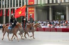 Khối Cảnh sát cơ động Kỵ binh ra mắt trước các đại biểu Quốc hội