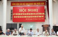 Lấy ý kiến đóng góp vào dự thảo văn kiện Đại hội XVII Đảng bộ Hà Nội